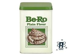 NEW VINTAGE STYLE RETRO MEDIUM BE-RO BE RO PLAIN FLOUR TIN STORAGE CONTAINER