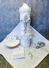 Baptism Candle Set- Vela de Bautizo - bautismo-christianing candle set