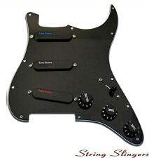 Lace Sensor Loaded Pickguard, (Blu,Sil,Red) Pickup set for Strat, Black 21043-02