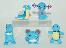 VERY RARE TOY MEXICAN FIGURE BOOTLEG SET 5 POKEMON TYPE WATER 2INCHES