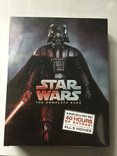 STAR WARS THE COMPLETE SAGA 1,2,3,4,5,6 (9 BLU-RAY Discs Box Set) Sealed Box NEW