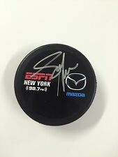 NHL star ADAM GRAVES Autographed PUCK San Jose Sharks, Oilers, Red Wings Rangers