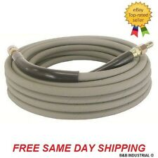 Non-Marking Pressure Washer Hose - 4000 PSI, 50 ft Length W/ Ends - Gray - 50'