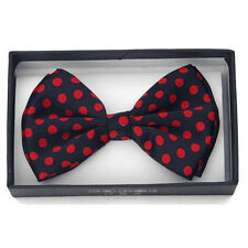 New Polka Dot Bow Tie Red and Black BowTie Ties Tuxedo