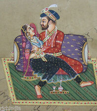 Royal Prince Lover Miniature Paper Painting India Art  Home Decor water colour