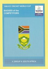CRICKET  -  POSTCARD  -  1999  ICC  CRICKET  WORLD  CUP  BADGES  -  SOUTH AFRICA