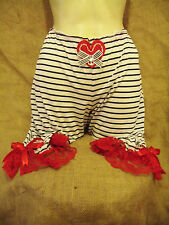 Navy white stripe bloomers with red lace & anchor!1950's,rockabilly,vintage!