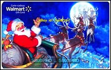 WALMART CHRISTMAS SANTA RIDING SLED REINDEERS #FD29379 COLLECTIBLE GIFT CARD