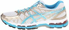 ASICS Women's GEL-Kayano 20 Running Shoe Size 6.5 Color White/Island Blue/Melon