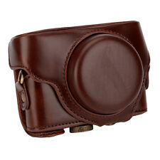 New Detachable Leather Camera Case Bag Protector Strap for Sony RX100-M4 Coffee