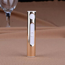 Silver Cigarette Lighter Electronic Windproof Recharge Mini USB Arc Metal Shell