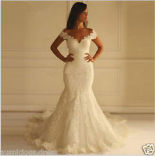 2016 White/Ivory Mermaid Wedding Dresses Lace Vintage Sweetheart Birdal Gowns