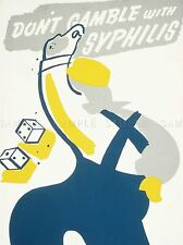 ADVERTISING DON'T GAMBLE WITH SYPHILIS CONSULT HEALTH ART POSTER PRINT LV661