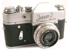 ZENIT 3 Russian Leica Copy SLR Camera INDUSTAR-50 Lens EXC