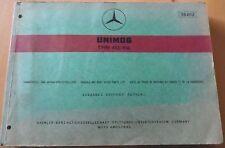 Mercedes Unimog Type 413 / 416 Fahrgestell und Ersatzteilliste