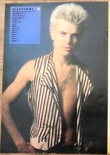 BILLY IDOL 'life facts' magazine PHOTO/Poster/clipping 8x6 inches