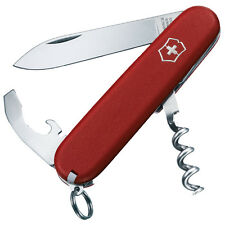 VICTORINOX WAITER ECONOMY COUTEAU SUISSE 10 OUTILS MANCHE ROUGE MAT 2.3303