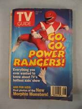Go Go Power Rangers TV Guide Vintage July 9-15 1994 Red Ranger Cable Listing (O)