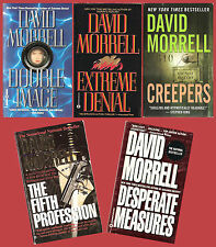 5 David Morrell novels: Double Image, Creepers, Fifth Profession, Extreme Denial