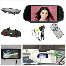 "12V 7.0"" TFT LCD Car Pickup Rearview Mirror Reversing Monitor Kit For Camera DVD"