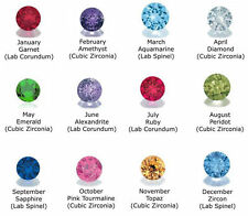 12 Crystal Birthstones 5mm Round Charms for Living Floating Memory Lockets New