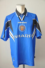1996-97 Manchester United Trikot Umbro Jersey Gr. XL Home Sharp Third Jersey