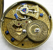 ANTIQUE CHINESE DUPLEX POCKET WATCH MOVEMENT PARTS REPAIR