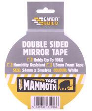 Cinta de doble cara espejo tiene hasta 10KG 24mm X 5 Metros Blanco Cinta Everbuild