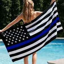 US Police Thin Blue Line Stripe Flag 3' x 5' - Support Police & Law Enforcement