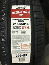 4 New 215 55 16 Summit Radial Trac II HP Tires