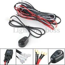 12V 40A LED HID Work Fog Light Lamp Bar Wiring Harness Kit ON/OFF Switch Relay