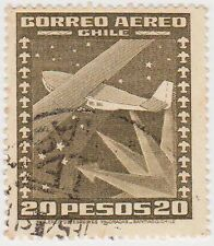 (CH261) 1934 Chile 20p olive air