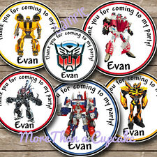 Transformer Party Favor Tags Transformers Birthday Party NEW 12 pc set Bumblebee