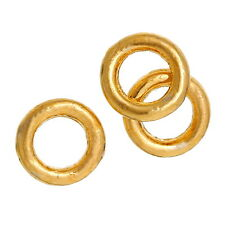 100 pcs 4mm gold plated GP closed soldered jump rings jewellery making findings