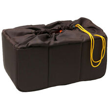 HORUSBENNU HD-362317 Coffee Cushion Partition Lens DSLR Camera Insert Padded Bag