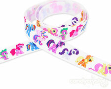 "1 YARD My Little Pony 22mm 7/8"" Grosgrain Ribbon Hair clips cakes Party Craft"