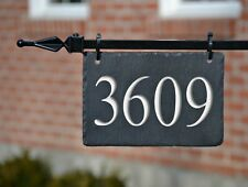 CARVED SLATE LAMPOST HANGING ADDRESS  MARKER/House Numbers/Plaque/lightpost M-3C
