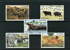 ZAIRE 1982 Sc#1078-1082 WLD ANIMALS FROM VIRUNGA PARK SET OF 5 STAMPS MNH