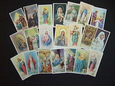 Lot of 21 Vintage Catholic HOLY CARDS pictures Life of Blessed Virgin Mary
