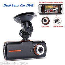 "1080P Full HD 2.7"" Dual Lens Car Separate Rear Camera DVR Video Recoder Dash Cam"