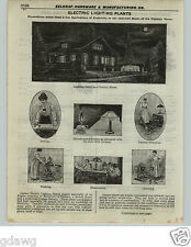 1922 PAPER AD 7 PG Electric Lighting Farm Home Plant Perfection 3.5 HP Motor Gas