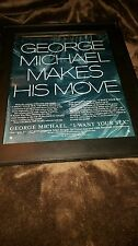 George Michael I Want Your Sex Rare Original Promo Poster Ad Framed!