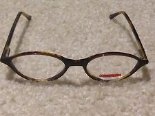 New COSMOPOLITAN WOMENS EYEGLASS FRAMES dark brown tortoise plastic 45-17-140