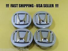 4 NEW For Honda Wheel Center Hub Caps 58mm Silver Chrome Civic USA SELLER