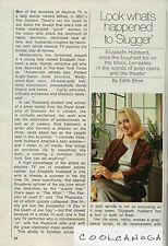 1969 tv article ~ Elizabeth Hubbard is Dr.Althea on The Doctors ~ 2.5 Pages