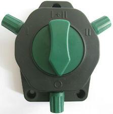 Zaunschalter / Erdschalter für Weidezaun mit 4 Schaltpositionen für 2 Zäune