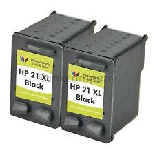 2 Druckerpatronen HP 21 XL für Deskjet 3930 3938 1410 1415 D1560 D1568 F2100 F33