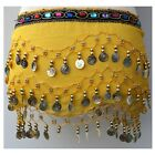 3 Rows Coin Belt Belly Dance Costume Hip Scarf Skirt Dancing Wrap for KIDs Girls