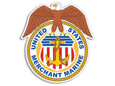 3.5x4 inch US Merchant Marine Seal & Eagle Shaped Sticker -decal logo insignia