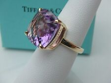 NYJEWEL Tiffany & Co. 18k Solid Gold 8.5ct Solar Amethyst Ring